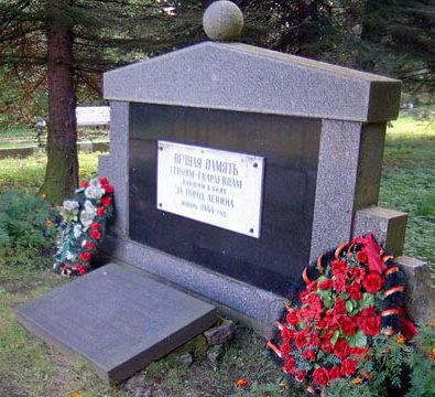 д. Пулково Кингисеппского р-на. Памятник на воинском кладбище «Меридиан».