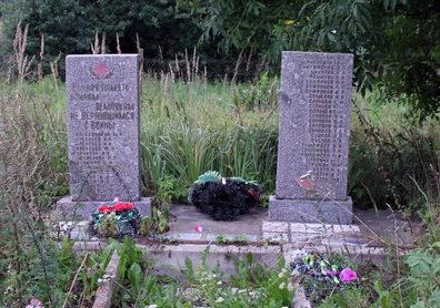 д. Ратчино Кингисеппского р-на. Памятник погибшим землякам.