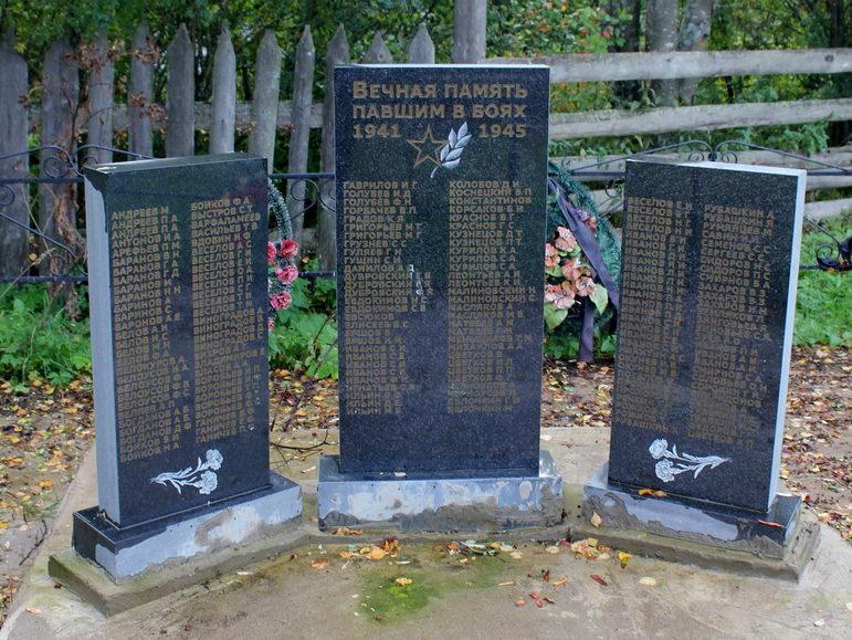 д. Андронниково Тихвинского р-на. Памятник, на котором увековечено имена 244 погибших земляков.
