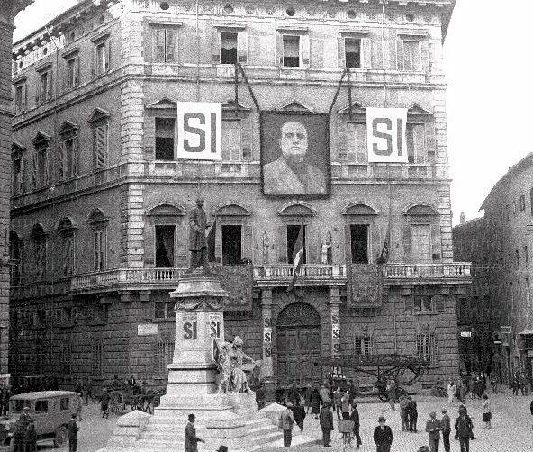 Штаб-квартира итальянской фашистской партии Муссолини. 1929 г.