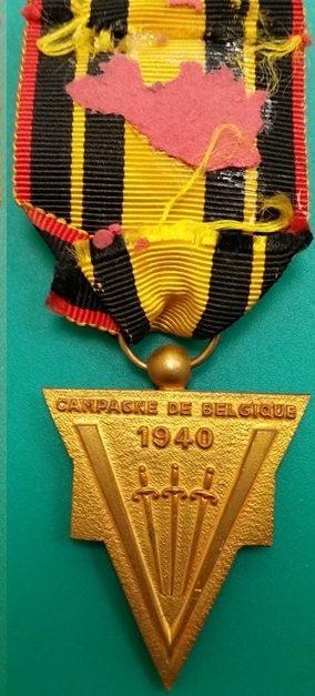Аверс и реверс памятной медали Франко-бельгийской ассоциации.