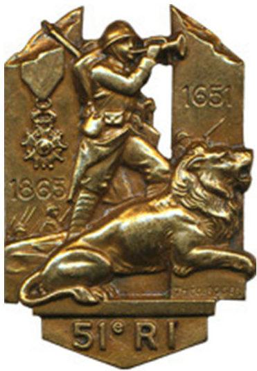 Знаки 51-го пехотного полка.
