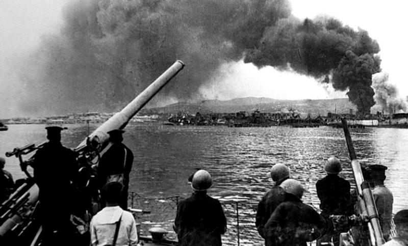 Отражение первого налета на город. 22 июня 1941 г.
