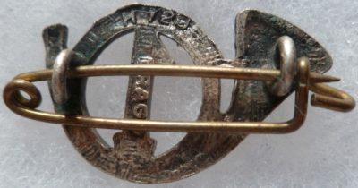 Аверс и реверс знака 1-го батальона егерей.