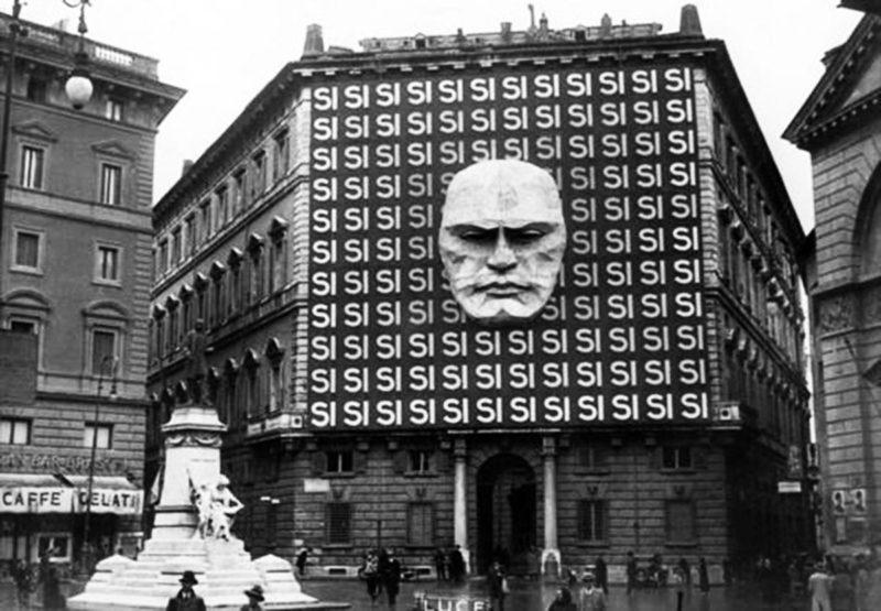 Штаб-квартира итальянской фашистской партии Муссолини. 1934 г.
