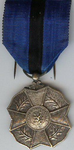 Серебряная медаль Ордена Леопольда II.