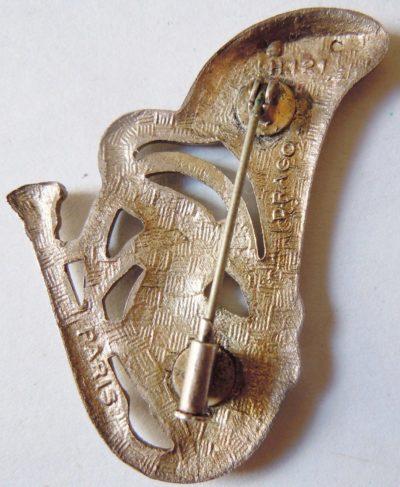 Аверс и реверс знака 2-го батальона егерей.