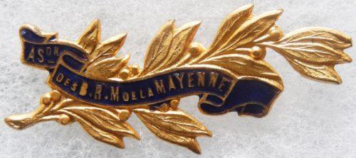 Аверс и реверс знака ассоциации ветеранов департамента Mayenne.