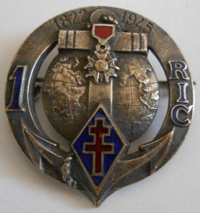 Знак 1-го колониального пехотного полка.