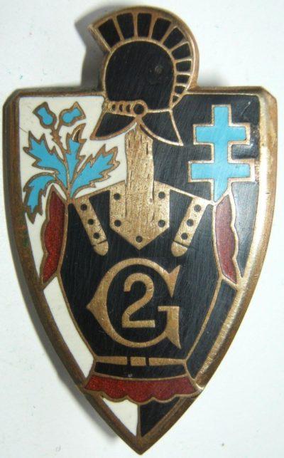 Аверс и реверс знака 2-го инженерного полка.