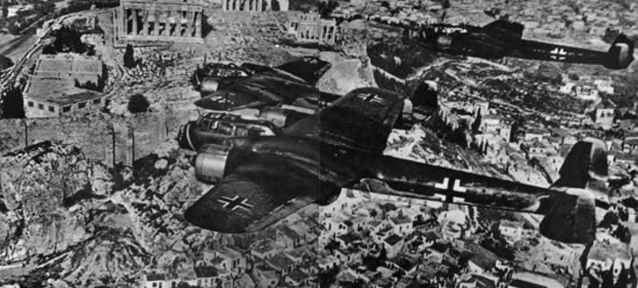 Немецкие самолеты над Афинами. Весна 1941 г.