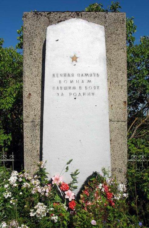 д. Лютка Лужского р-на. Памятник, установленный на братской могиле, в которой похоронено 57 советских воинов.