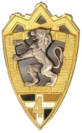 Знак 4-го пехотного полка.