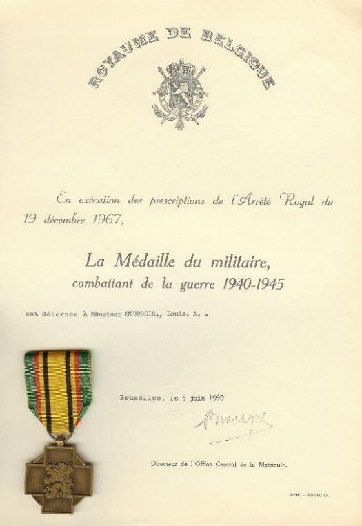 Свидетельство о награждении медалью ветерана войны 1940-1945.