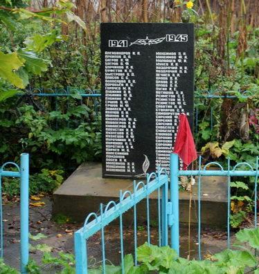 д. Григино Тихвинского р-на. Памятник, на котором увековечено имена 70 погибших земляков.