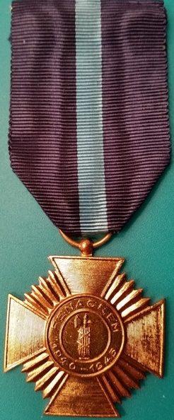 Аверс и реверс Креста ветеранов Второй мировой войны Королевской федерации бывших унтер-офицеров.