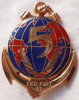 Знак 5-го колониального пехотного полка.