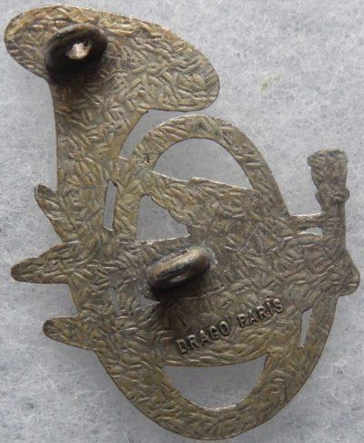 Аверс и реверс знака 6-го батальона егерей.