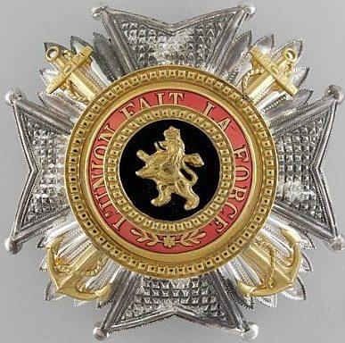 Звезда степени Великого офицера с якорями.