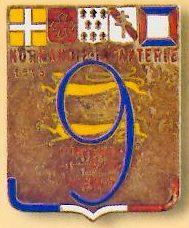 Знак 9-го пехотного полка.