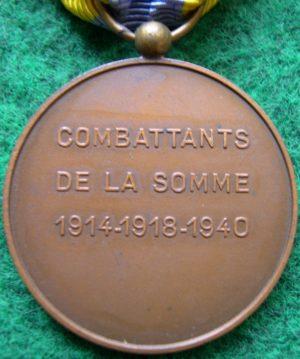 Аверс и реверс медали битвы на Сомме.