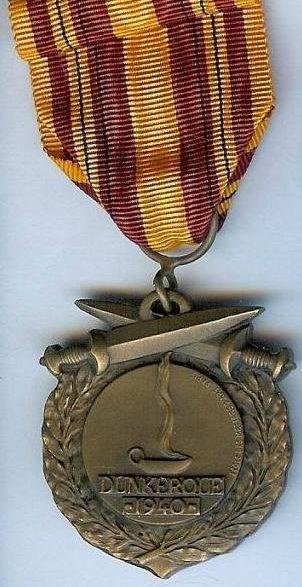 Аверс и реверс медали Дюнкерк I типа.