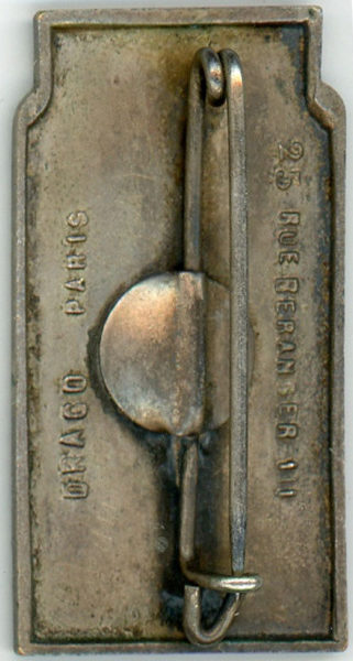 Аверс и реверс знака 19-го пехотного Бретонского полка.