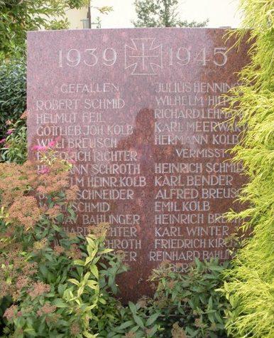 г. Крайхталь р-н Банбрюккен. Памятник жертвам Второй мировой войны.