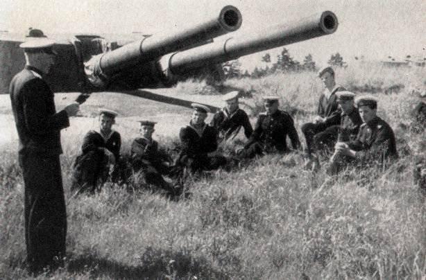 Береговые батареи города. 1942 г.