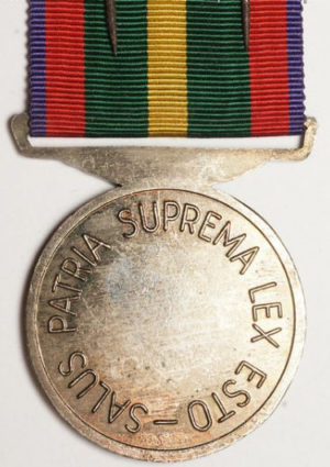 Аверс и реверс медали союза ветеранов Второй мировой войны.