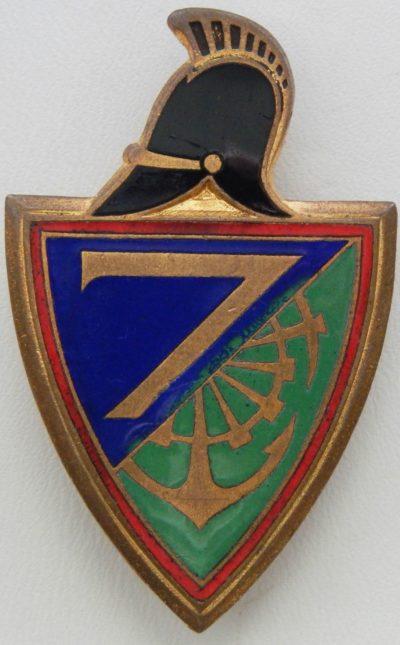 Аверс и реверс знака 7-го инженерного полка.