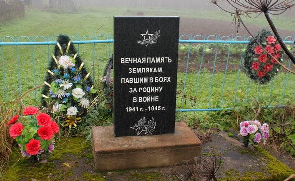 д. Малая Палуя Тихвинского р-на. Памятник погибшим землякам.