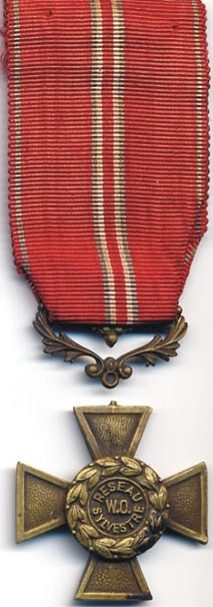 Аверс и реверс медали сети сопротивления Sylvestre-Farmer.