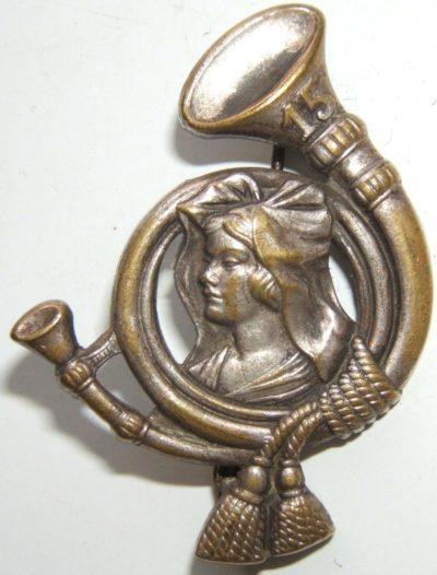 Аверс и реверс знака 15-го батальона егерей.