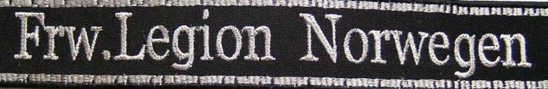 Манжетная лента добровольческого легиона СС «Den Norske Legion».