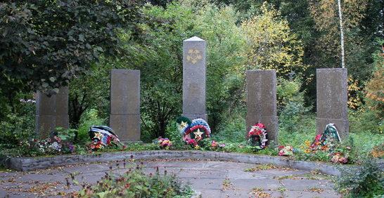 д. Мелегежская Горка Тихвинского р-на. Памятник, на котором увековечено имена 443 погибших земляков.