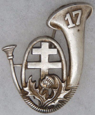 Аверс и реверс знака 17-го батальона егерей.
