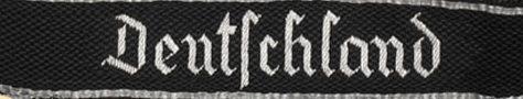 Манжетные ленты 3-го моторизованного полка СС «Deutschland».