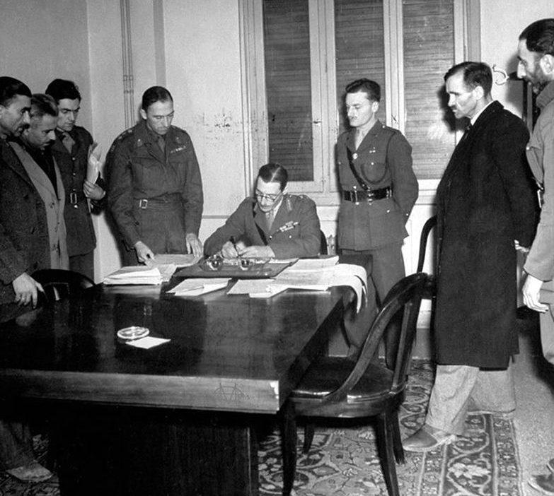 Подписание перемирия. Январь 1945 г.