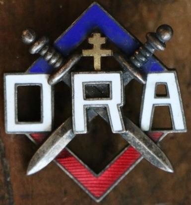 Аверс и реверс знака организации армейского сопротивления (ORA).