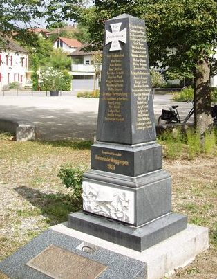 п. Мёггенген. Памятник пропавшим без вести во время Второй мировой войны.