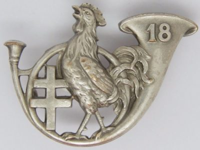 Аверс и реверс знака 18-го батальона егерей.