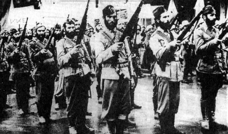 Отряд греческих партизан. 1946 г.