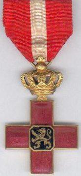 Аверс и реверс Креста чести Бельгийского Красного Креста.