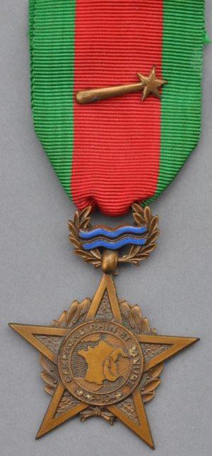 Аверс и реверс медали компании на Рейне и Дунае.