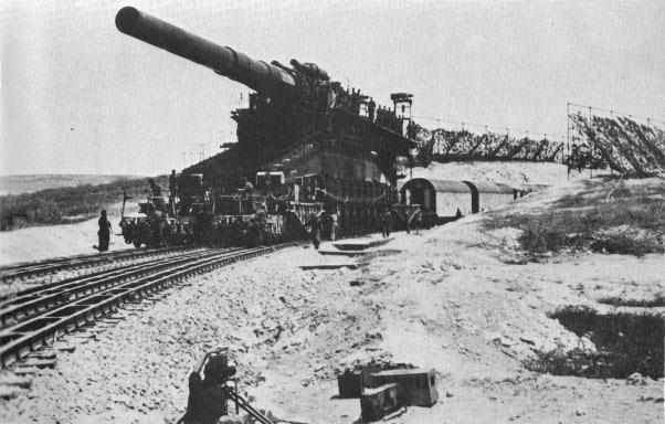 800-мм орудие «Дора» на позиции у Бахчисарая. Февраль-март 1942 г.