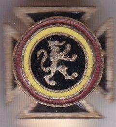Петличный знак ветеранов гвардии на Рейне.