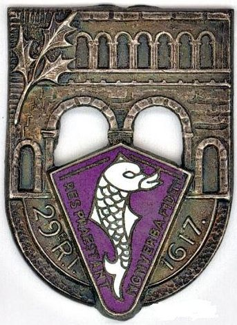 Знак 29-го пехотного полка.