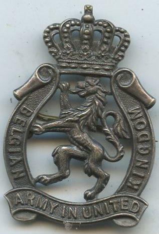 Аверс и реверс знака Королевских ВС Бельгии.