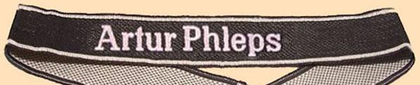 Манжетная лента 13-го горнострелкового полка СС «Artur Phleps».